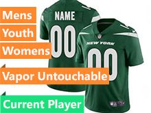 2019 Mens Women Youth Nfl New York Jets Green Current Player Nike Vapor Limited Jersey
