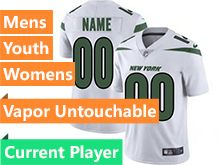 2019 Mens Women Youth Nfl New York Jets White Current Player Nike Vapor Limited Jersey