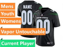 2019 Mens Women Youth Nfl New York Jets Black Current Player Nike Vapor Limited Jersey