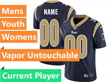 Mens Women Youth Nfl Los Angeles Rams Navy Blue 2019 Super Bowl Liii Bound Vapor Untouchable Limited Current Player Jersey