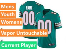 Mens Women Youth Nfl Miami Dolphins Green Vapor Untouchable Limited Current Player Jersey