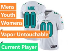 Mens Women Youth Nfl Miami Dolphins White Vapor Untouchable Limited Current Player Jersey