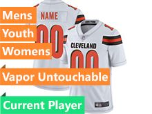 Mens Women Youth Nfl Cleveland Browns White Current Player Vapor Untouchable Limited Jersey