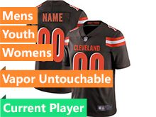 Mens Women Youth Nfl Cleveland Browns Brown Current Player Vapor Untouchable Limited Jersey