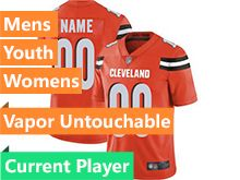 Mens Women Youth Nfl Cleveland Browns Orange Current Player Vapor Untouchable Limited Jersey