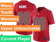 Mens Women Youth Nfl Tampa Bay Buccaneers Red Vapor Untouchable Color Rush Limited Current Player Jersey
