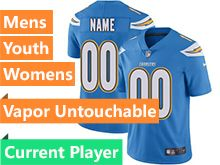 Mens Women Youth Nfl Los Angeles Chargers Light Blue Vapor Untouchable Limited Current Player Jersey