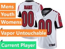 Mens Women Youth Nfl Atlanta Falcons White Vapor Untouchable Limited Current Player Jersey