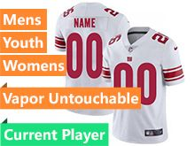 Mens Women Youth Nfl New York Giants White Vapor Untouchable Limited Current Player Jersey