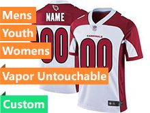 Mens Women Youth Nfl Arizona Cardinals White Custom Made Vapor Untouchable Limited Jersey