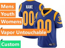 Mens Women Youth Nfl Los Angeles Rams Blue 2019 Super Bowl Liii Bound Custom Made Vapor Untouchable Limited Jersey