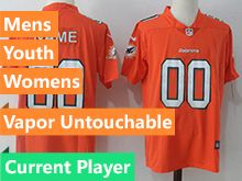 Mens Women Youth Nfl Miami Dolphins Current Player Orange Vapor Untouchable Limited Player Jersey
