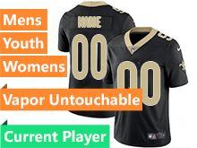 Mens Women Youth Nfl New Orleans Saints Black Current Player Vapor Untouchable Limited Jersey