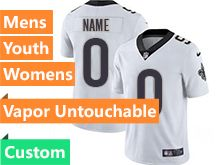 Mens Women Youth Nfl New Orleans Saints White Custom Made Vapor Untouchable Limited Jersey