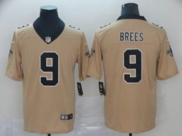 Mens Nfl New Orleans Saints #9 Drew Brees Gold Nike Inverted Legend Vapor Untouchable Limited Jersey