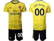 Mens 19-20 Soccer Arsenal Club ( Custom Made ) Yellow Away Short Sleeve Suit Jersey