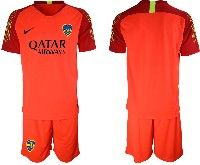 Mens 19-20 Soccer Atletico Boca Juniors ( Custom Made ) Red Goalkeeper Short Sleeve Suit Jersey