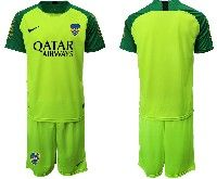 Mens 19-20 Soccer Atletico Boca Juniors ( Custom Made ) Green Goalkeeper Short Sleeve Suit Jersey