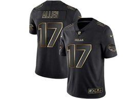 Mens Nfl Buffalo Bills #17 Josh Allen Black Gold Vapor Untouchable Limited Jersey