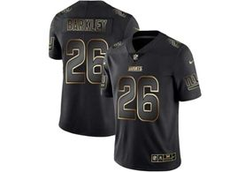 Mens Nfl New York Giants #26 Saquon Barkley Black Gold Vapor Untouchable Limited Jersey