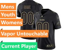 Mens Women Youth Nfl Chicago Bears Current Player Black Gold Vapor Untouchable Limited Jersey