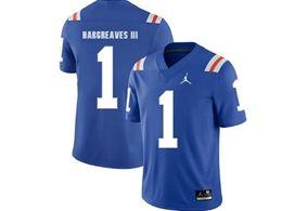 Mens Ncaa Nfl Florida Gators #1 Vernon Hargreaves Iii  Royal Blue Jordan Brand Throwback Alternate Game Jersey