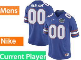 Mens Ncaa Nfl Florida Gators Current Player Royal Blue Nike Game Jersey