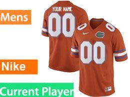 Mens Ncaa Nfl Florida Gators Current Player Orange Nike Game Jersey