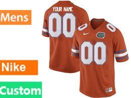 Mens Ncaa Nfl Florida Gators Custom Made Orange Nike Game Jersey