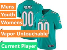 Mens Women Youth Nfl Miami Dolphins Green Current Player Vapor Untouchable Limited Jersey