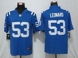 Mens Nfl Indianapolis Colts #53 Darius Leonard Blue Nike Vapor Untouchable Limited Jersey