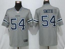 Mens Dallas Cowboys #54 Jaylon Smith Gray Nike Inverted Legend Vapor Untouchable Limited Jersey