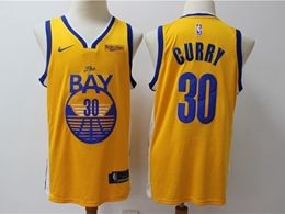 Mens Nba Golden State Warriors #30 Stephen Curry Yellow New Nike Swingman Jersey