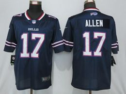 Mens Nfl Buffalo Bills #17 Josh Allen Navy Blue Nike Inverted Legend Vapor Untouchable Limited Jersey