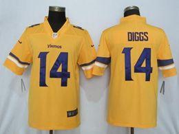Mens Nfl Minnesota Vikings #14 Stefon Diggs Gold Nike Inverted Legend Vapor Untouchable Limited Jersey