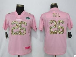 Women New York Jets #26 Le'veon Bell Pink Camouflage Font Love Vapor Untouchable Limited Player Jersey