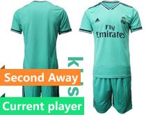 Youth 19-20 Soccer Real Madrid Club Current Player Green Second Away Short Sleeve Suit Jersey