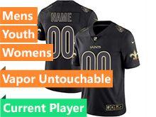 Mens Women Youth Nfl New Orleans Saints Current Player Black Gold Vapor Untouchable Limited Jersey
