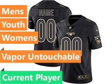 Mens Women Youth Nfl New England Patriots Current Player Black Gold Vapor Untouchable Limited Jersey