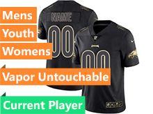 Mens Women Youth Nfl Philadelphia Eagles Current Player Black Gold Vapor Untouchable Limited Jersey
