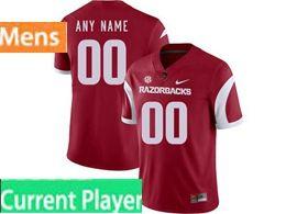 Mens Nike Ncaa Arkansas Razorbacks Current Player Red Vapor Untouchable Limited Jersey