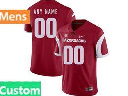 Mens Nike Ncaa Arkansas Razorbacks Custom Made Red Vapor Untouchable Limited Jersey