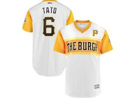 Mens Pittsburgh Pirates #6 Starling Marte (tato) 2019 Mlb Little League Classic Cool Base Jersey