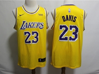 Mens 2019 New Nba Los Angeles Lakers #23 Davis Yellow City Edition Swingman Nike Jersey