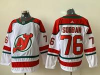 Mens Nhl New Jersey Devils #76 P.k. Subban White Fanatics Branded Alternate Breakaway Adidas Jersey