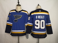 Women Youth Nhl St.louis Blues #90 Ryan O'reilly Blue Adidas Jersey