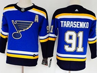 Women Youth Nhl St.louis Blues #91 Vladimir Tarasenko Blue Adidas Jersey