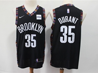 Mens 2018-19 Nba Brooklyn Nets #35 Durant Black City Edition Nike Jersey