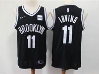 Mens Nba Brooklyn Nets #11 Irving Black Nike Swingman Jersey