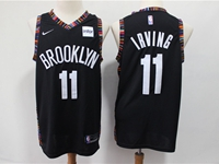Mens 2018-19 Nba Brooklyn Nets #11 Irving Black City Edition Nike Jersey